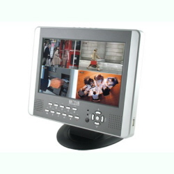 W3-D2504BM LCD Монитор 10 дюймов+DVR регистратор,4 Video/2 Audio. USB.LAN. Motion Detetion.